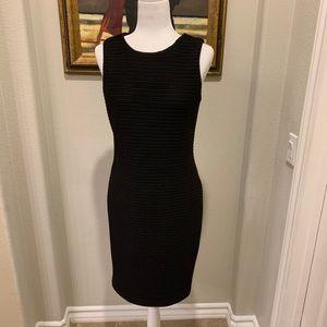 Calvin Klein Texture Black Sleeveless Dress